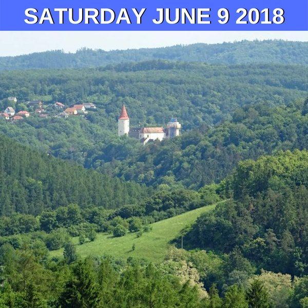 Castle Krivoklat is surrounded by deep woods
