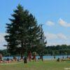 Podebrady Lake beach is well kept