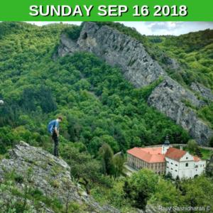Scenic hike in Cesky kras