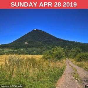 Mt. Milešovka 837 m/2746 ft a.s.l.