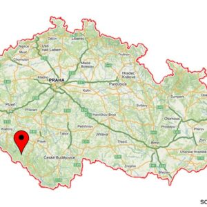 The hike location on the map of CZ