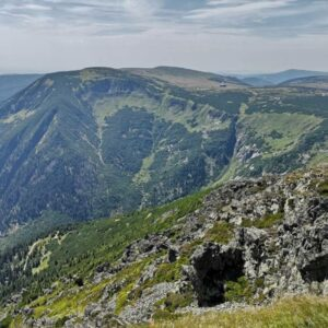 The Krkonose Mountains from Snezka