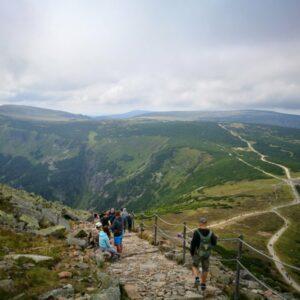 On the slopes of the Snezka mountain