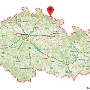 Snezka on the map of Czechia