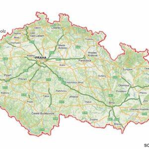 Annaberg-Bucholz on a map